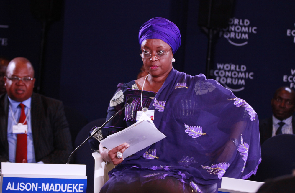 Nigeria Petroleum Minister Alison Madueke attends the World Economic Forum on Africa in Abuja, Nigeria, on Friday, as efforts continued to find 276 schoolgirls.