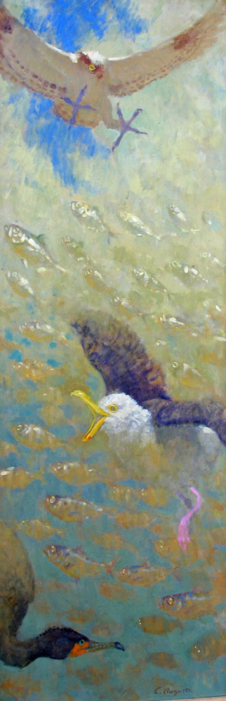 """""""Alewives Rising,"""" by Chris Augusta."""