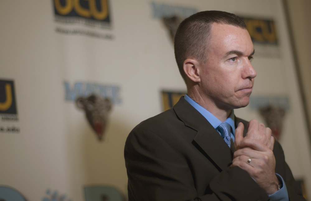 Bob Walsh, the new University of Maine men's basketball coach, said he was thrilled that the issue of moving from Division III to Division I didn't come up in his interview, and that the search committee focused on the best fit for the school.