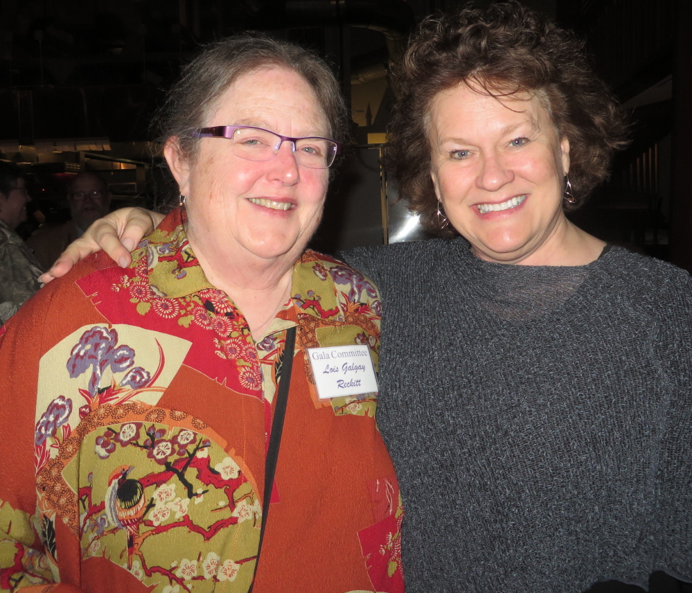 Lois Galgay Reckitt, Family Crisis Services' director, and former staff member Skeek Frazee.