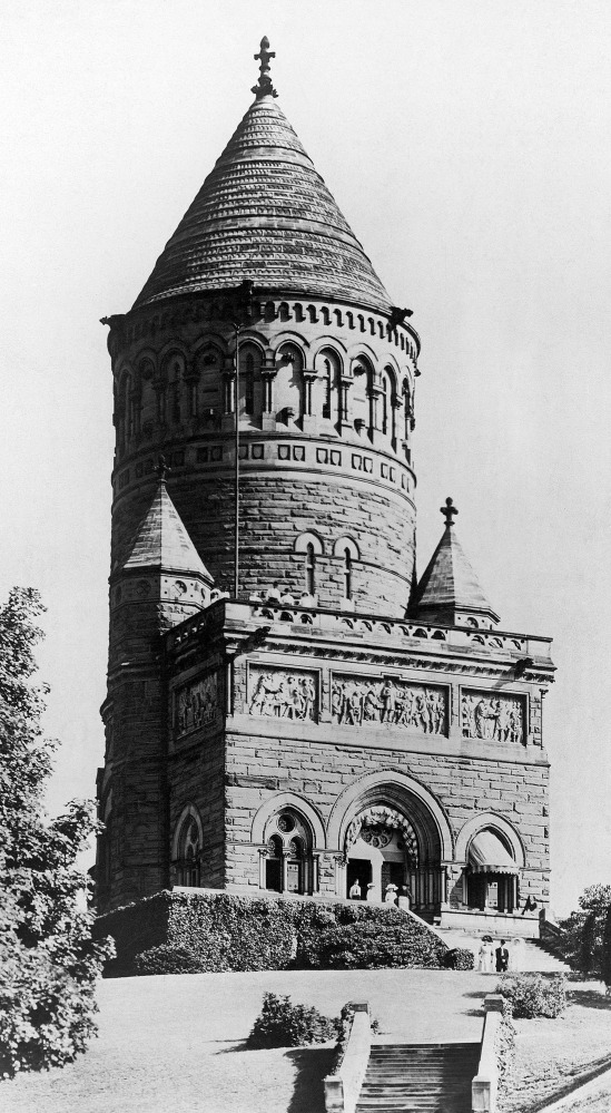 Police say thieves broke into this monument to James A. Garfield, 20th president of the United States, in Cleveland, Ohio.