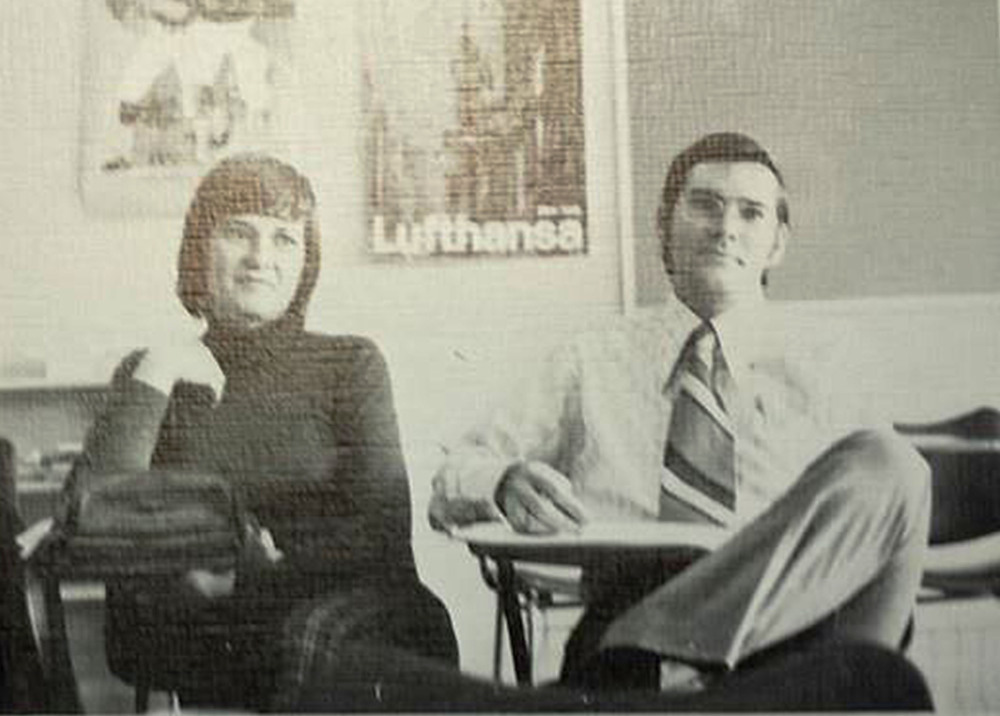Beginning early in his career, William James Vahey carefully crafted a reputation as a caring teacher. In this photo, provided by former Tehran American School student Mark Turnage, Vahey appears in a 1973 yearbook with another teacher.