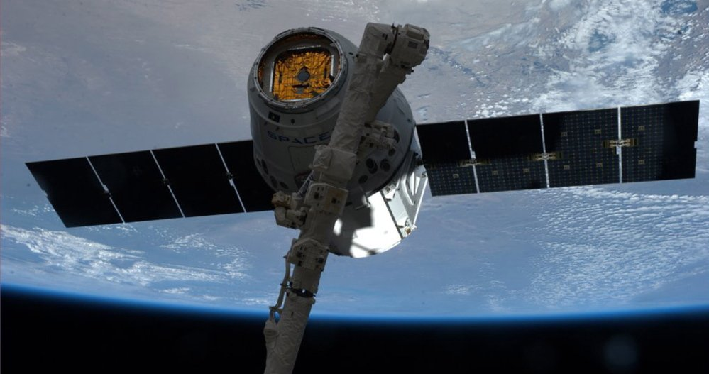 The SpaceX Dragon docks at at the International Space Station. Russia does not plan to use the station past 2020.