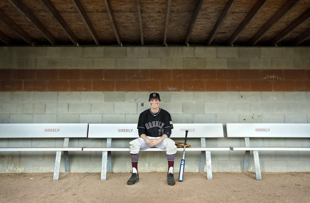 "Greely High School baseball player Sam Porter has overcome concussions from soccer and an injury he suffered in Guatemala to become a viable member of the baseball team. Coach Derek Soule calls Porter ""the best defensive third baseman I've coached."""