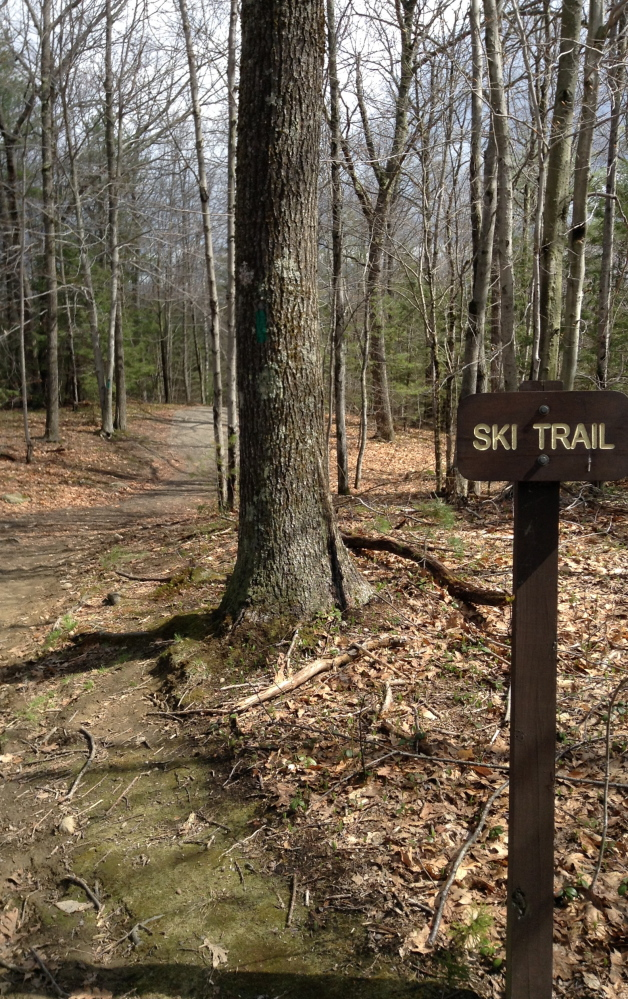 The Ski Trail at Bradbury Mountain is popular year-round, and within easy access of Portland metro.