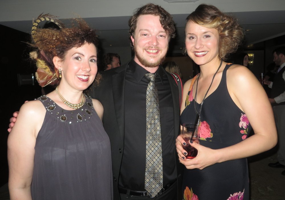 Jenny Kowtko, left, an artist and teacher; Dylan Verner, a photographer and painter; and Ashleigh Burskey, an artist and member of 2 Degrees Portland.