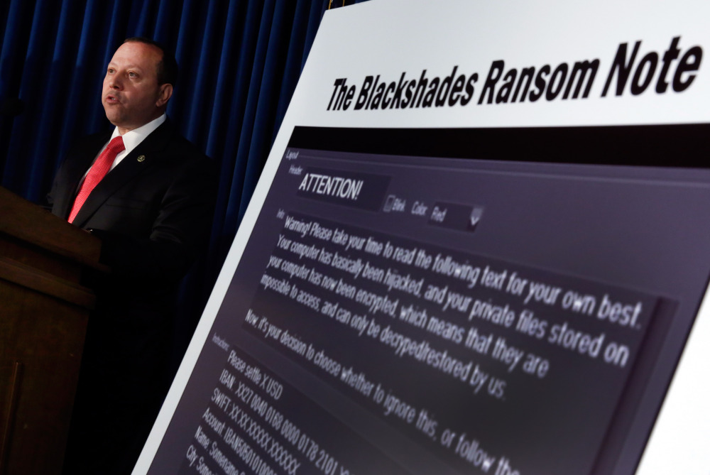 Leo Taddeo, special agent-in-charge in the Federal Bureau of Investigation's Special Operations and Cyber Division, discusses arrests connected to the malware BlackShades on Monday.