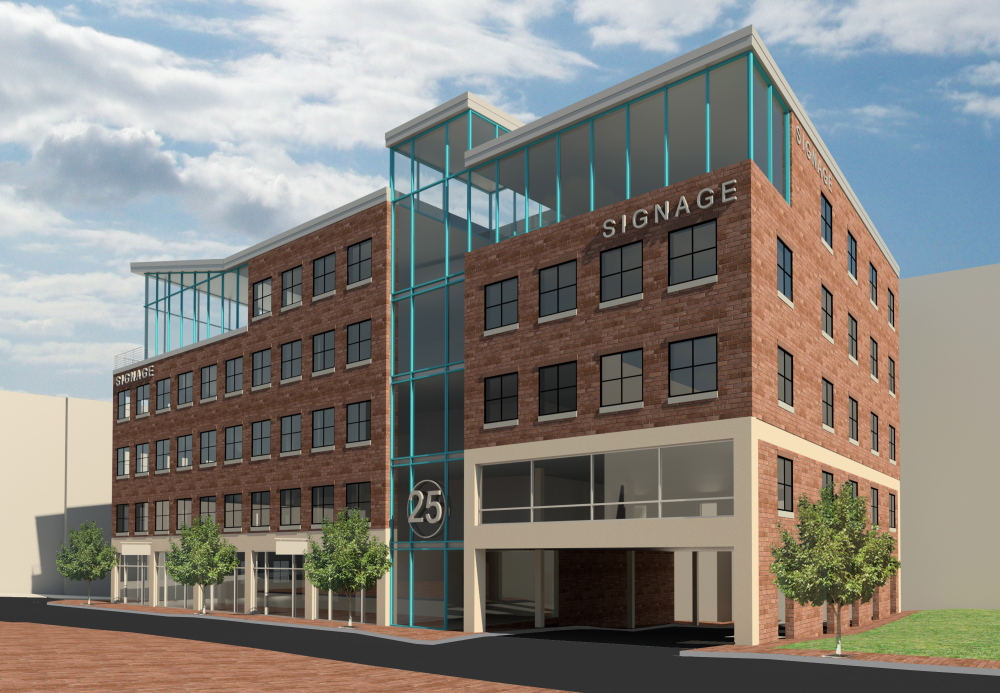 Rendering for project at 16 Middle St. in Portland. Courtesy of Bateman Partners, LLC.