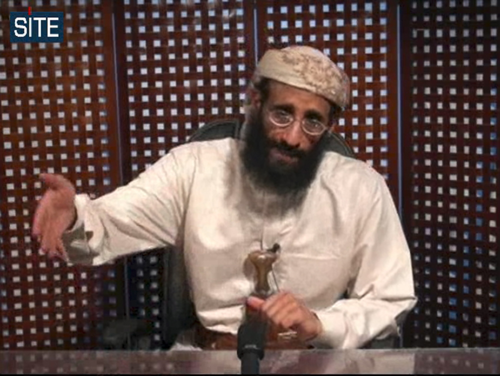 U.S.-born terror suspect Anwar al-Awlaki, shown in this image taken from video and released by SITE Intelligence Group, was killed by a 2011 drone strike in Yemen.