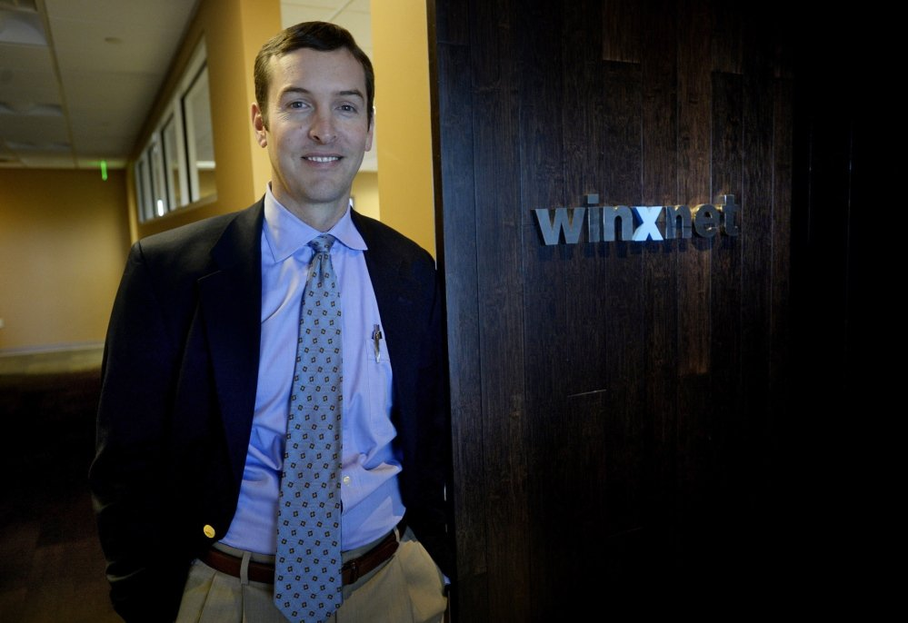 "Chris Claudio, Winxnet's CEO, says his company is trying to ""build a brand and a reputation for the state of Maine beyond its borders, and looking to consult and help other organizations do the same thing."""