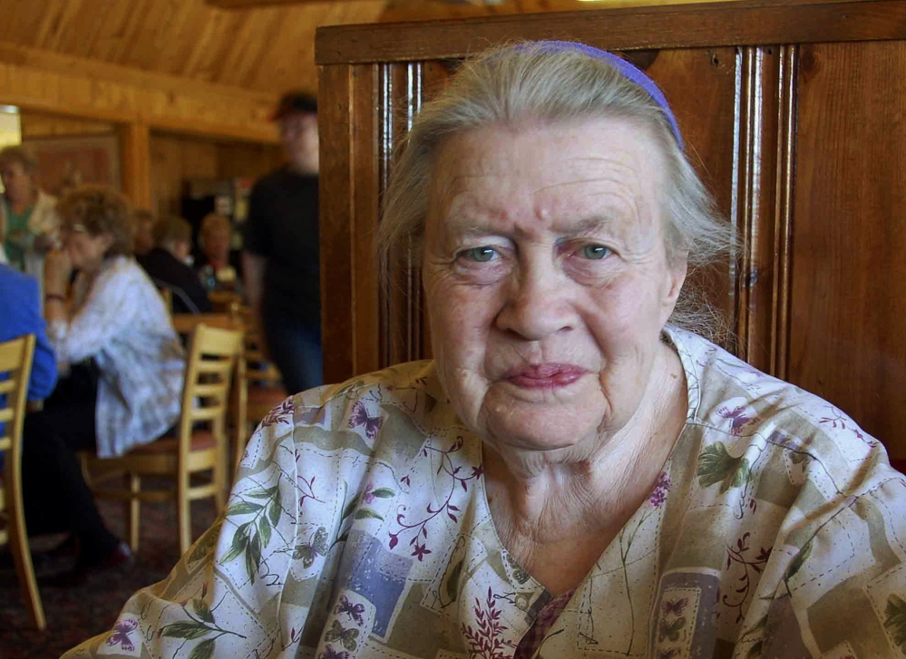 Ruth Ziolkowski in the restaurant at Crazy Horse, S.D., in 2008. Her late husband, sculptor Korczak Ziolkowski, began the Crazy Horse mountain carving 60 years ago. She took over the dream of her husband upon his death in 1982.