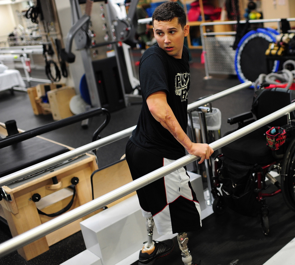 Army Staff Sgt. Sam Shockley lost both legs and suffered near-fatal wounds from a bomb blast in Afghanistan, and now is one of hundreds of thousands of disabled veterans who must fight another battle for federal benefits.