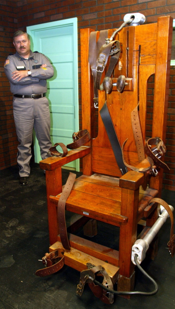"""The Texas Prison Museum exhibits """"Old Sparky,"""" the Texas electric chair in which 361 killers were executed from 1924 to 1964."""