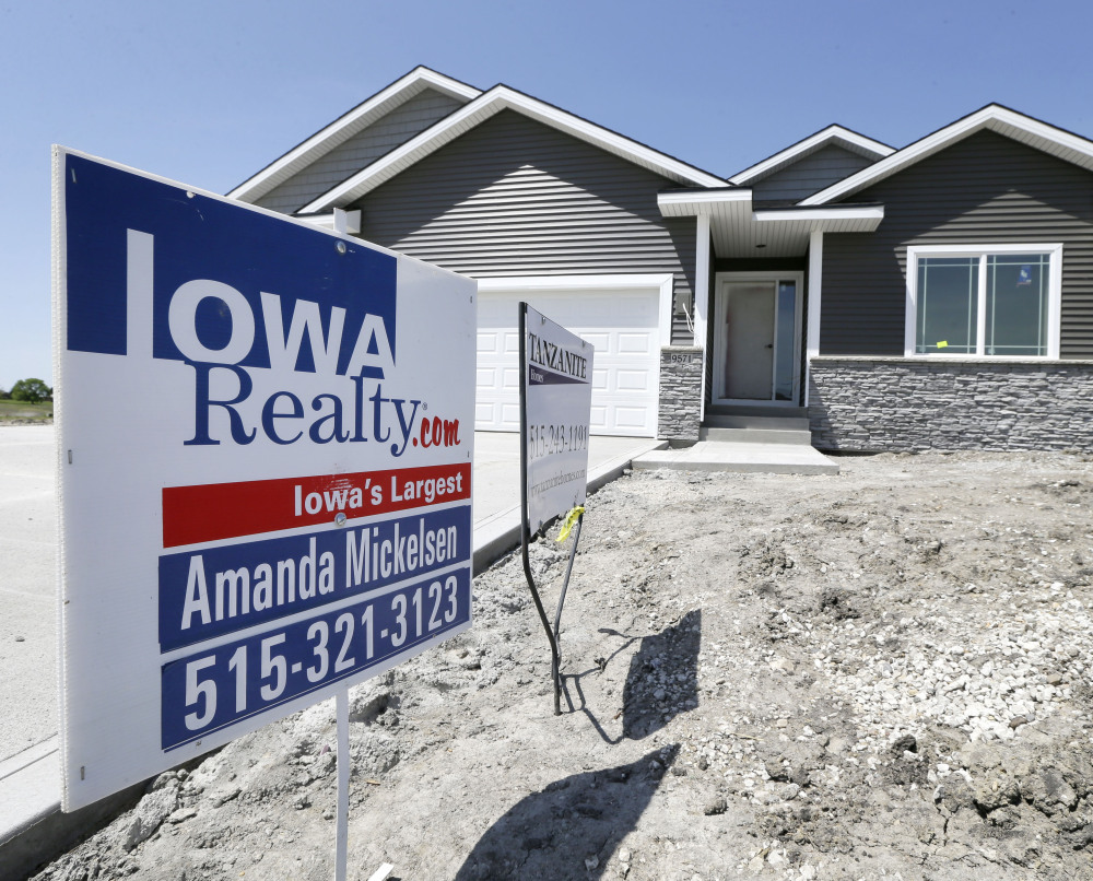 A new home for sale in West Des Moines, Iowa.
