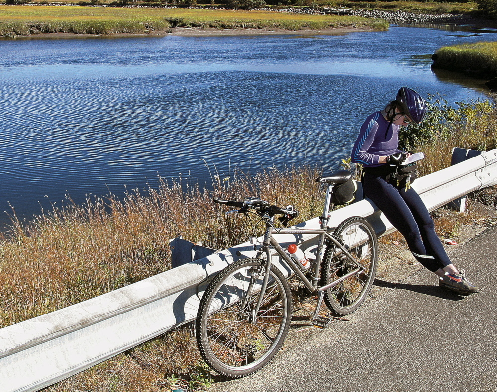 Staff Writer Deirdre Fleming tested the Eastern Trail in 2003, cycling from Kittery to South Portland, and saw how beautiful even the most developed areas of Maine can be.