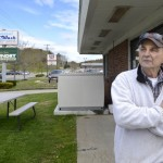 Ralph Najim, who owns Coastal Car Wash in Boothbay Harbor, installed an Ice Bear unit in front of his business.