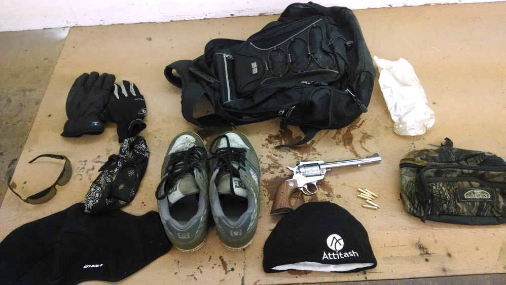 Fryeburg police recovered these items from the backpack near Molly Ockett Middle School.