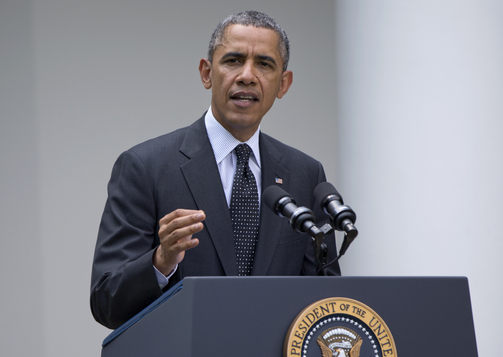 President Barack Obama speaks about Afghanistan on Tuesday in the Rose Garden of the White House in Washington.