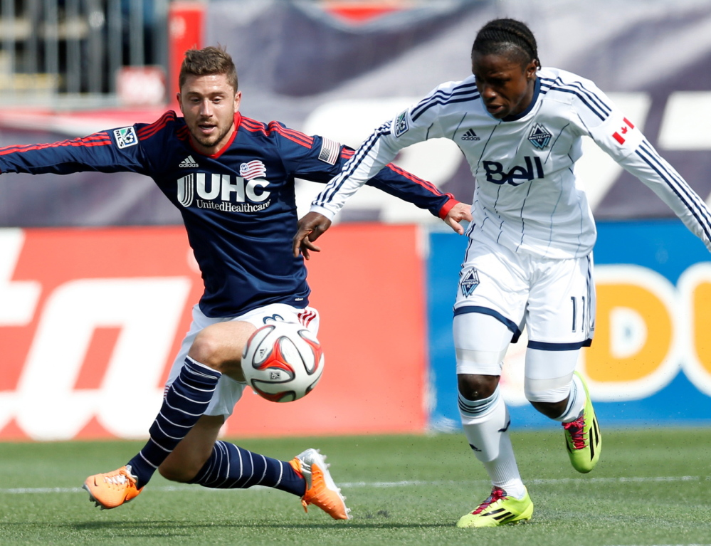 Chris Tierney, left, rode through the lows with the Revolution and is now enjoying the team's resurgence this season.