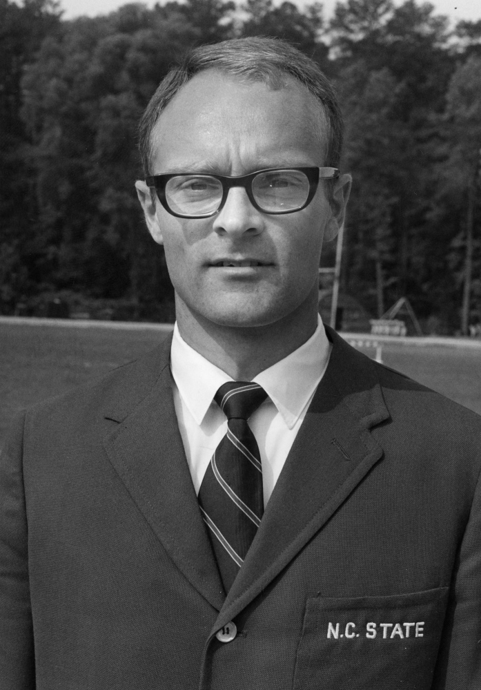 Coach: Jim Wescott coached the N.C. State track team prior to coming to Colby. Wescott resigned at N.C. State in 1978 to take a job at Colby as an assistant professor of physical education. Contributed Photo