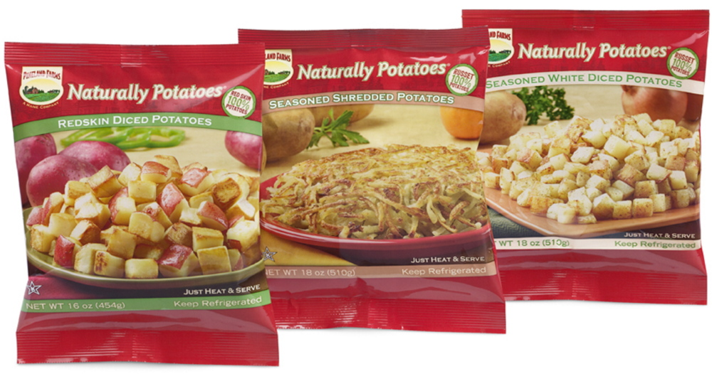 Naturally Potatoes sells refrigerated potato products – everything from mashed potatoes to diced potatoes – into the retail and restaurant markets. Besides the potatoes grown on its own 900-acre farm in St. Agatha, Naturally Potatoes buys potatoes from between 12 and 15 other growers in Aroostook County.