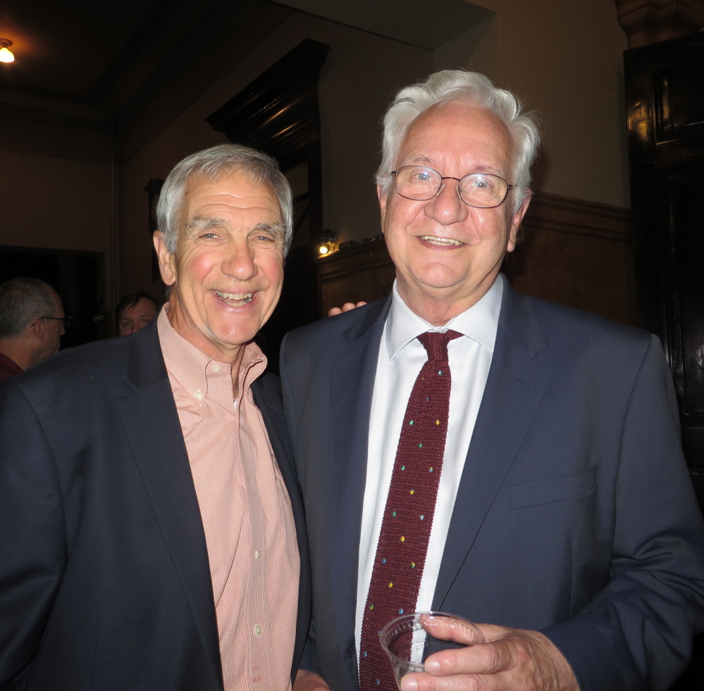 Nick Nadzo, former president of the Portland Ovations board, and current vice president Jim Morgan.