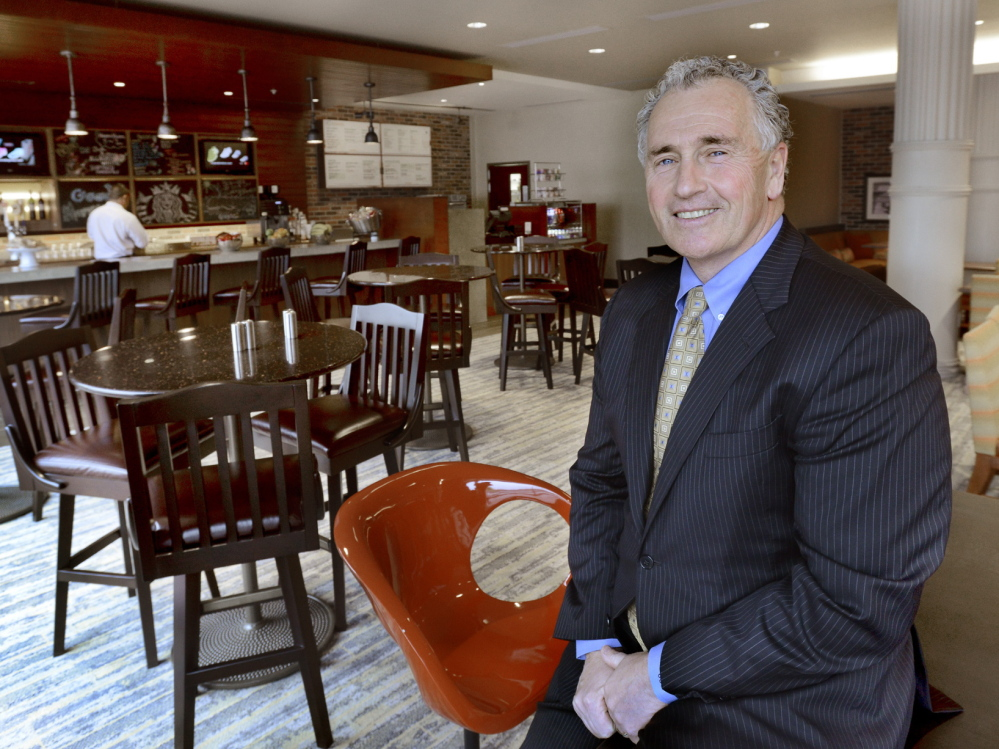 President and CEO Sean Riley, whose company is managing the new Portland Courtyard Downtown/Waterfront hotel, says there is demand for the new supply of rooms in Portland. John Patriquin/Staff Photographer