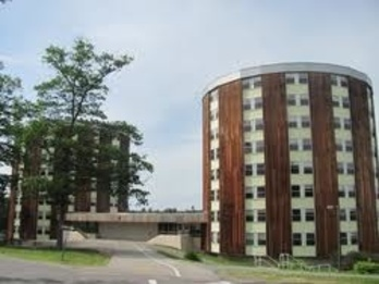 Dickey Wood's two eight-story halls were built in 1970.