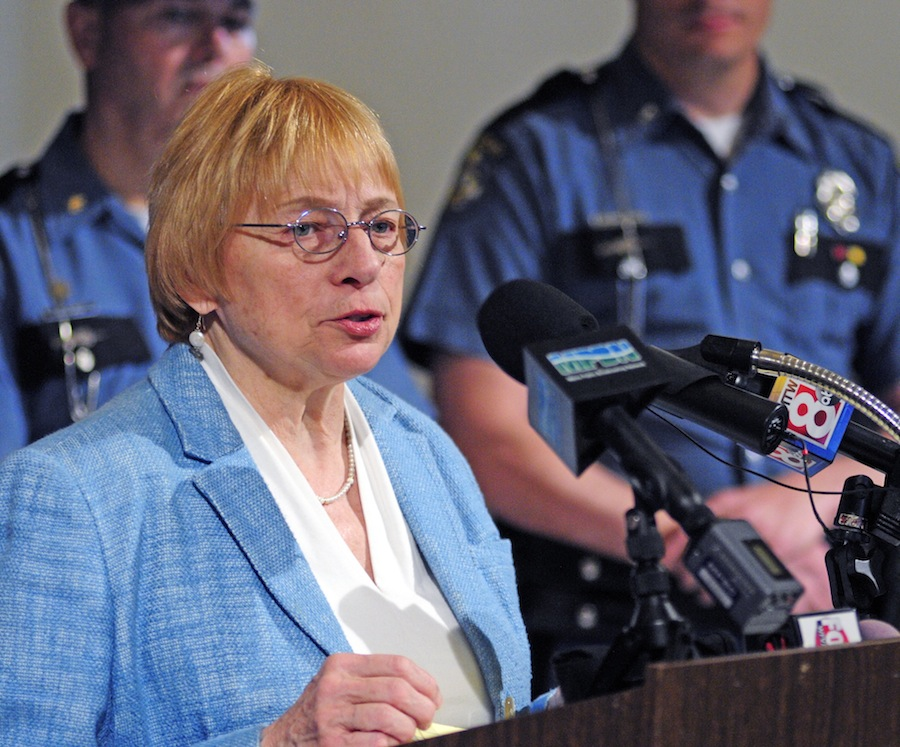 Maine Attorney General Janet Mills is blocking Gov. Paul LePage's plan to exclude asylum seekers from other countries from receiving General Assistance aid, saying it's unconstitutional.