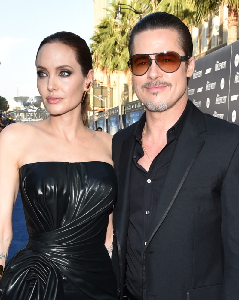 Angelina Jolie and Brad Pitt were targets of a prank by Vitalii Sediuk at a Los Angeles premiere May 28. The Associated Press