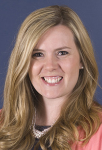 Westbrook Middle School teacher Sarah Brokofsky, Cumberland County's 2014 teacher of the year.