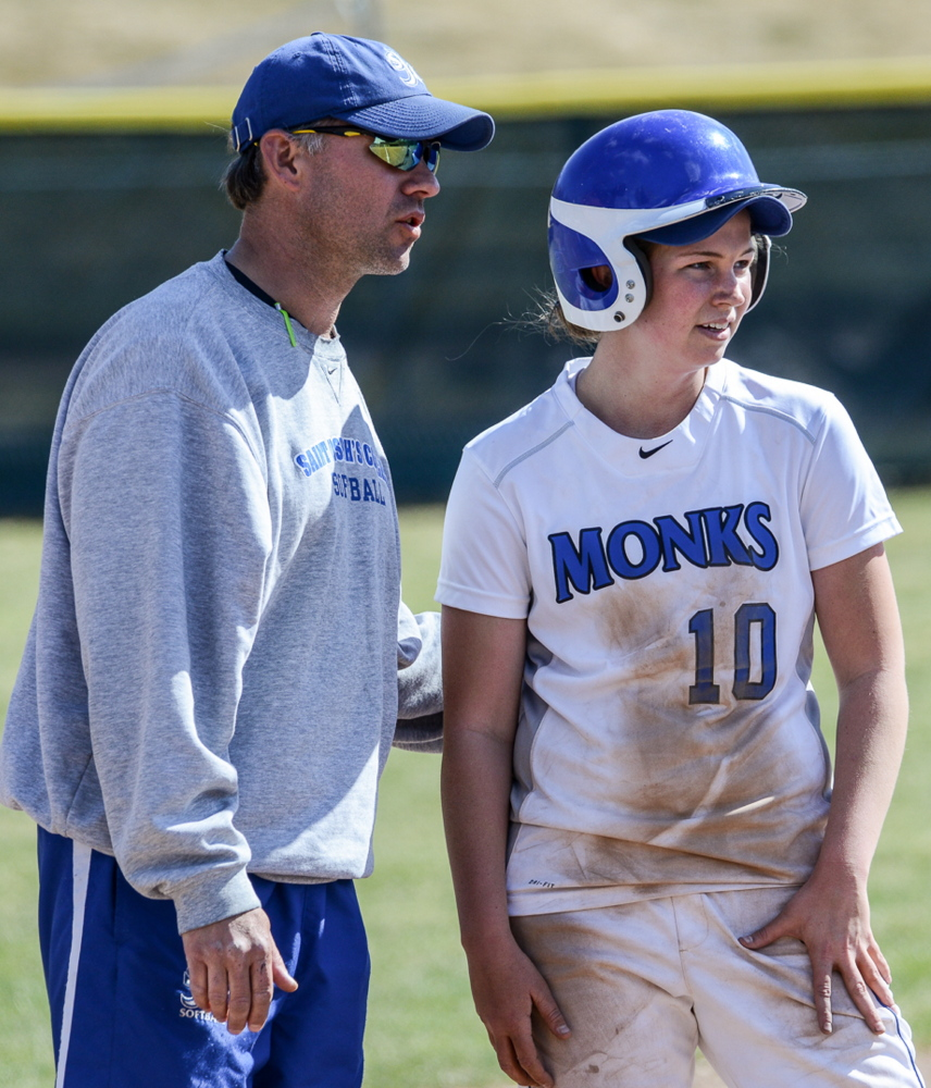 Jamie Smyth, the St. Joseph's College softball coach, often wondered how well Maine recruits could field because opportunities were rare. Now things have changed. Photo courtesy of David Bates