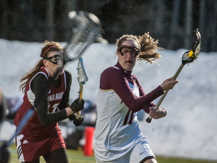 Norwich's Grace Fitzpatrick likes to think the ball belongs to her, and the tenacious midfielder just might be right, given how she led her lacrosse team in numerous statistical categories.