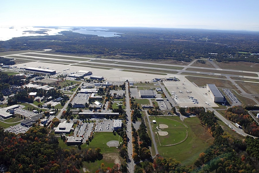 Brunswick Naval Air Station in a 2011 photo. The Navy has been testing for the presence of perfluorinated compounds in groundwater, surface water and sediments on and around the former base.