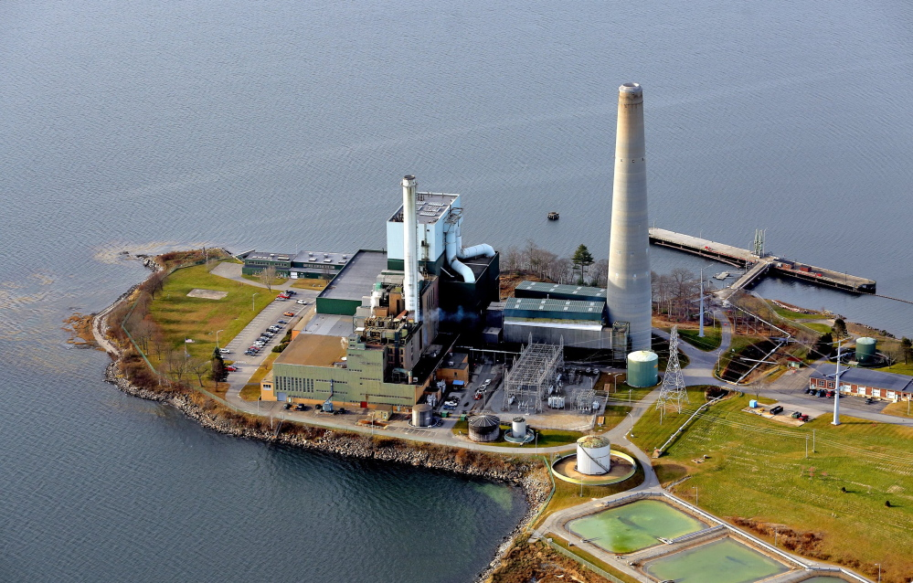 The Wyman Station power plant on Cousins Island in Yarmouth is among Maine's power plants. 2013 Press Herald File Photo