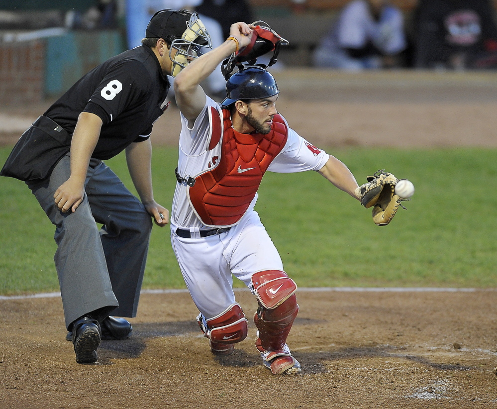Blake Swihart was thought by some teams to be too small to be a major league catcher three years ago. But he's added 30 pounds and become a top prospect for Boston. Gordon Chibroski/Staff Photographer