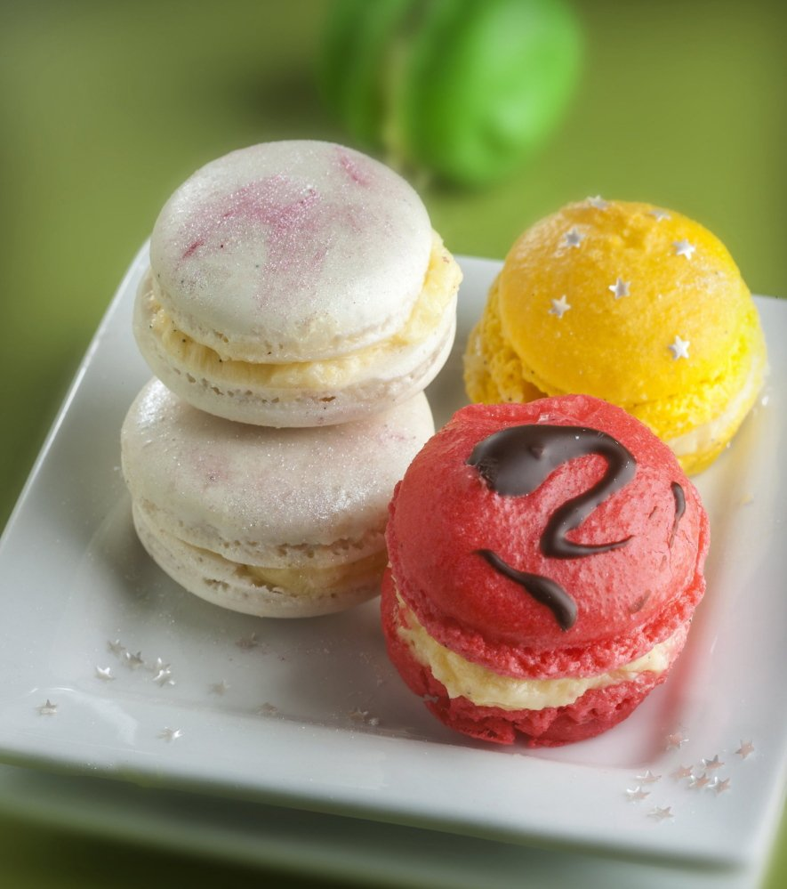Macarons are delicate, cream-filled cookies that seem simple but, it's true, can be very difficult to get right.