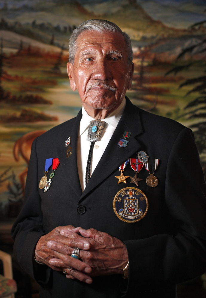 "Charles Norman Shay, who lives in Old Town, was a 19-year-old Army medic when he fought in the D-Day invasion at Normandy, France, on June 6, 1944. Shay, 89, tells his story in a new History Channel documentary, ""D-Day in HD."" Amelia Kunhardt/Staff Photographer"