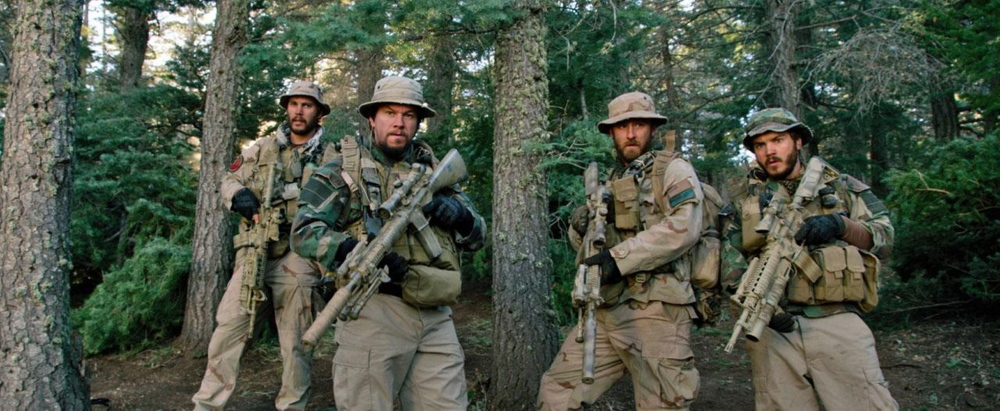 Taylor Kitsch, Mark Wahlberg, Ben Foster and Emile Hirsch in Universal Pictures' Lone Survivor (2014)