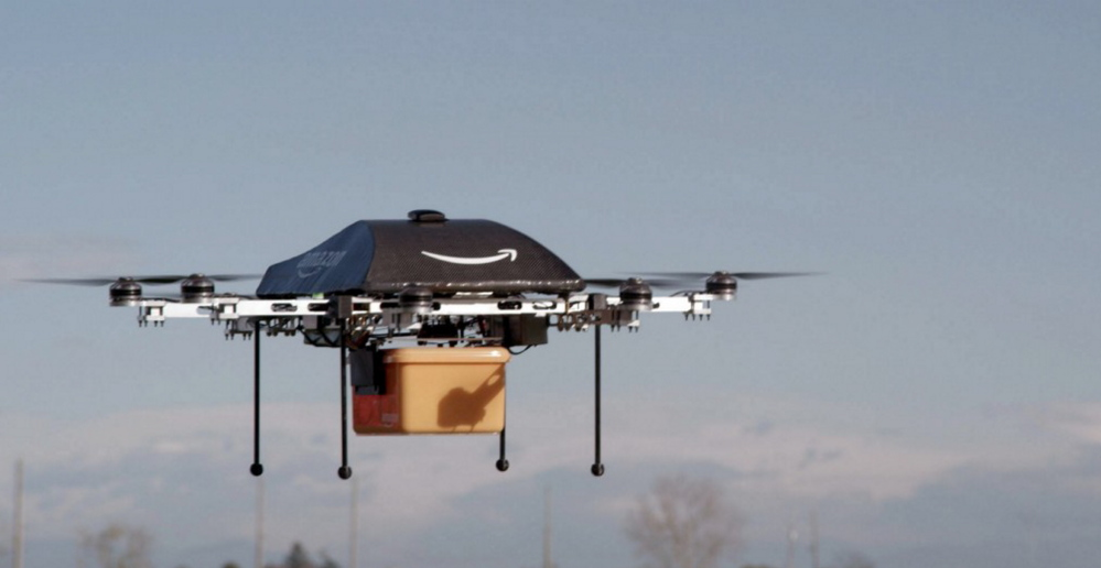 Amazon is working on the so-called Prime Air unmanned aircraft in its research and development labs. The Associated Press/Amazon.com