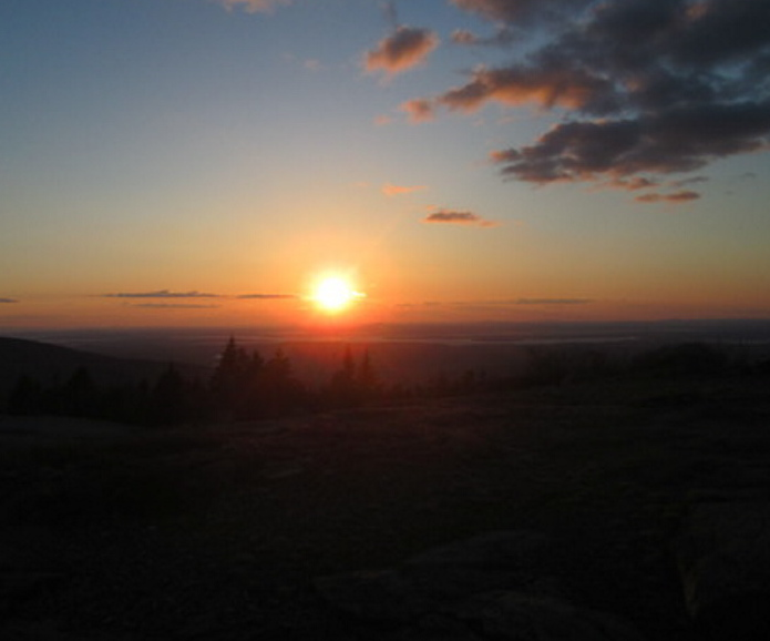 Acadia National Park is one of the first parts of the U.S. to be graced by the sun each morning, and Garrick Hoffman of South Portland was there to witness the dawning of this day.