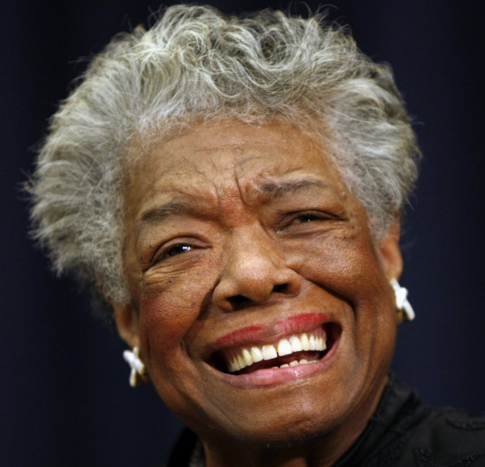 The Associated Press This Nov. 21, 2008 file photo shows poet Maya Angelou smiling in Washington. First lady Michelle Obama and others plan to gather to pay tribute to African-American poet and playwright Maya Angelou at a memorial service Saturday, June 7, 2014 at the university in North Carolina where Angelou taught for more than 30 years.