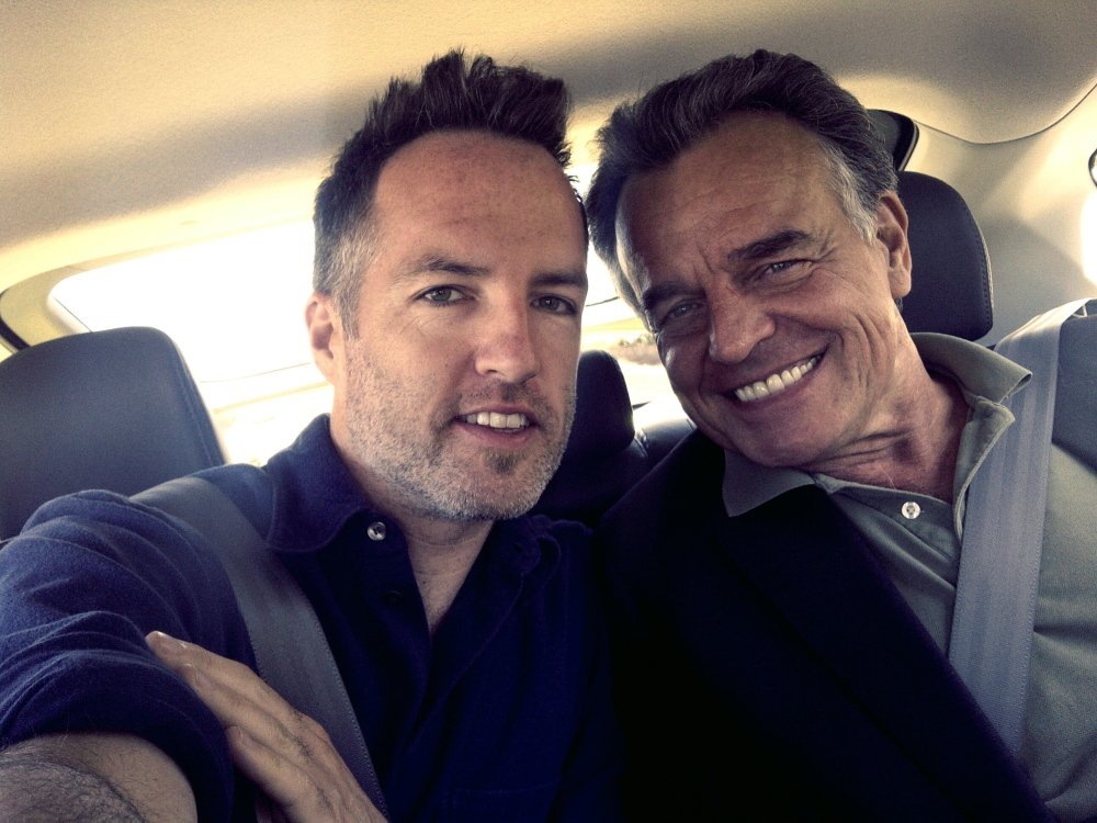 "Kyle Rankin with veteran actor Ray Wise, who is in Rankin's new Maine-made film ""Night of the Living Deb.""  Courtesy photo"