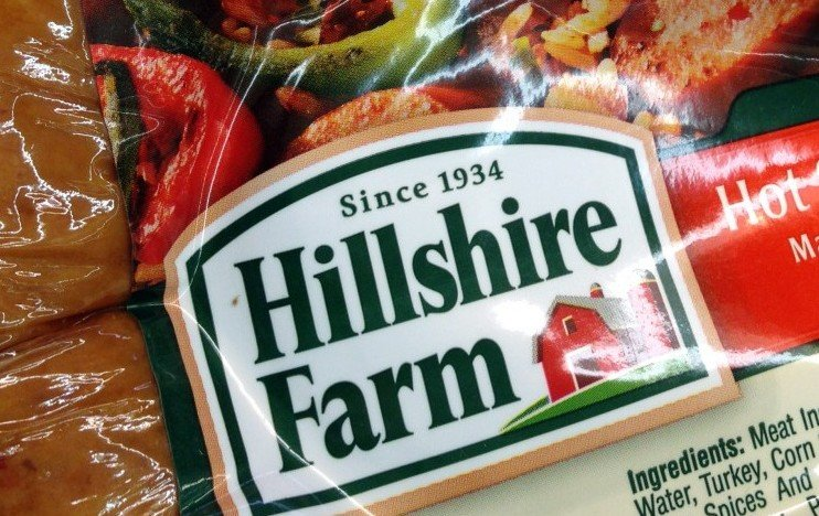 Hillshire Farm packaged sausage is displayed in a supermarket Monday. Tyson Foods Inc. has won a bidding war for Hillshire Brands. The Associated Press