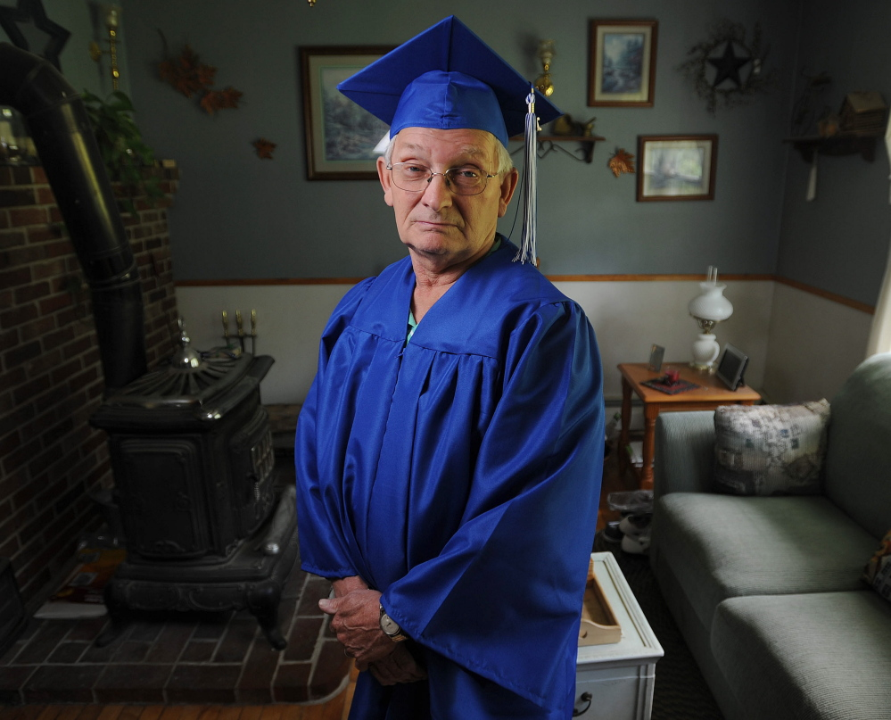 Rick Soule, 72, will receive a high school diploma that was 50 years in the making on Wednesday. Michael G. Seamans/Morning Sentinel
