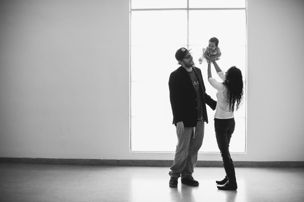 This February photo shows Kristain and Anzalee Rhodes with their daughter Arabelle, at 5 months old, on their first family trip to the Brooklyn Museum in New York City.