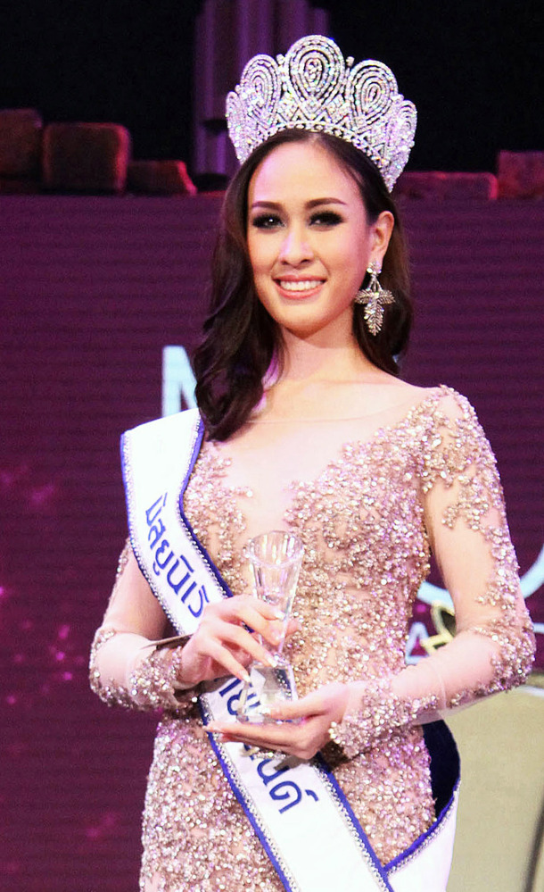 Weluree Ditsayabut was crowned Miss Universe Thailand at the competition held at Bangkok in May. The Associated Press