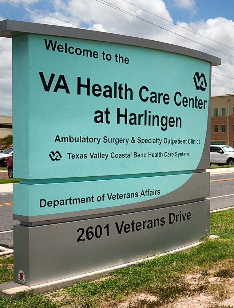 The VA Health Care Center in Harlingen, Texas, which ranks high on the list of the facilities with the longest average waits as of May 15 for new patients seeking primary care, specialist care and mental health care, according to audit results released Monday. The Associated Press/Valley Morning Star, David Pike