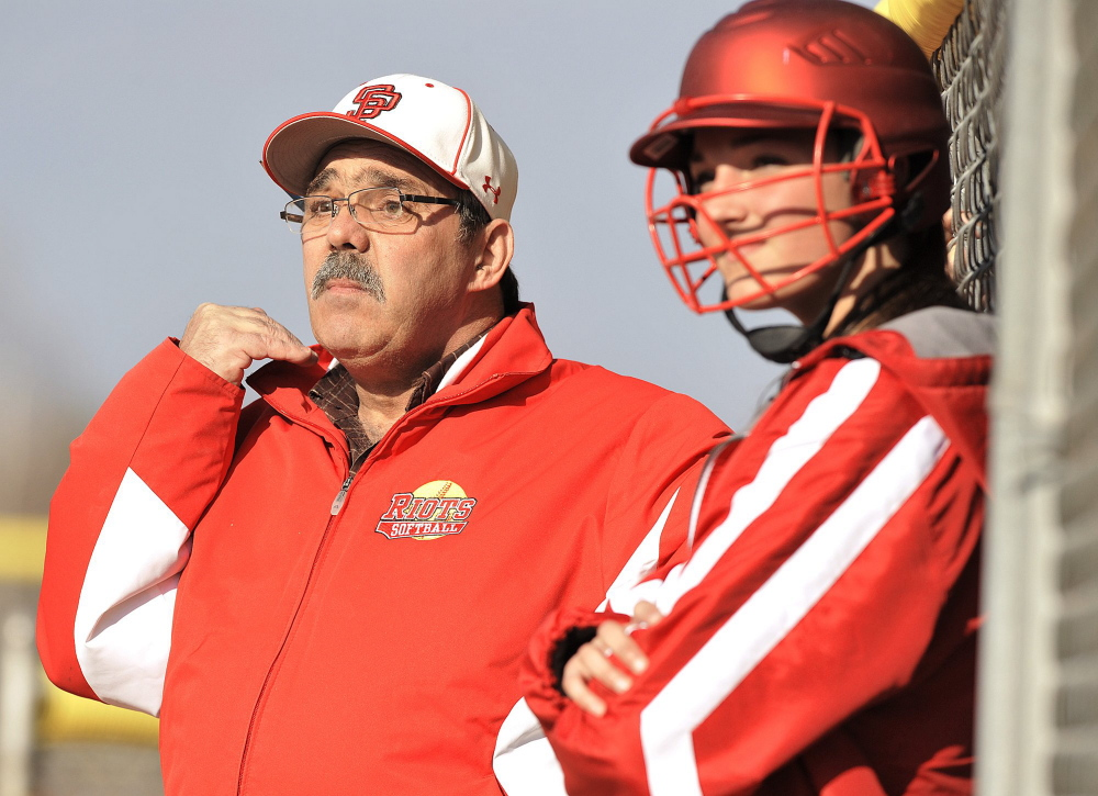 Ralph Aceto guided South Portland to four Western Class A finals, two regional titles and one state championship in his six seasons as varsity softball coach.
