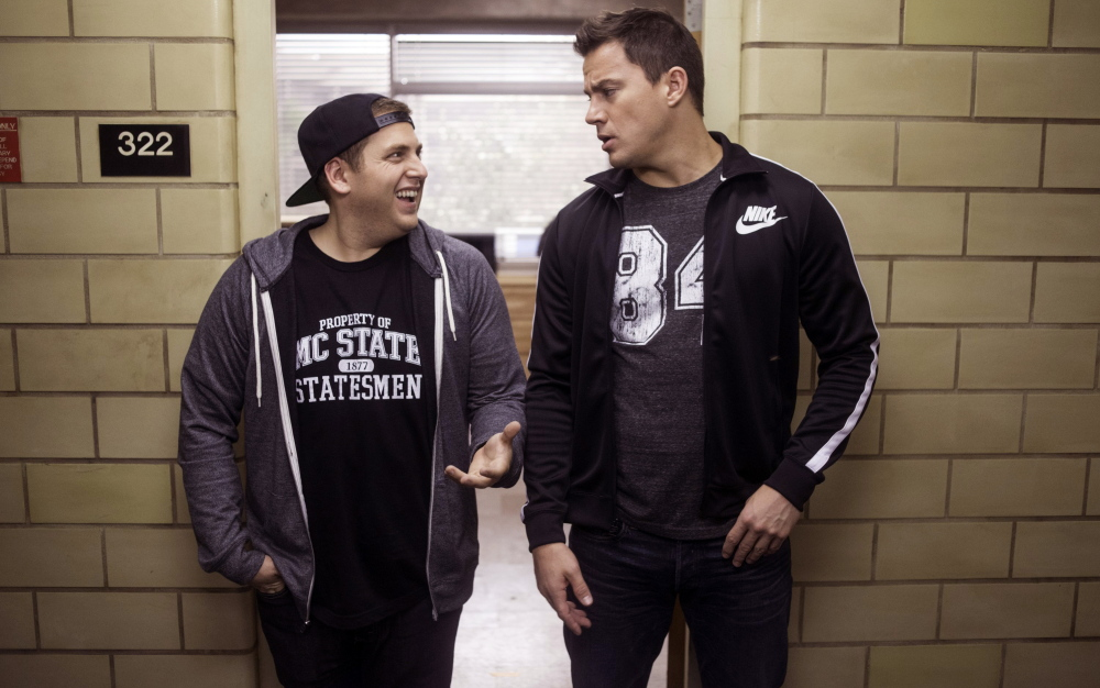 "Jonah Hill, left, and Channing Tatum in ""22 Jump Street"""